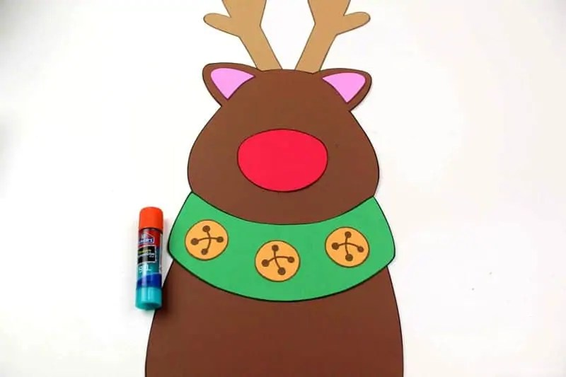 Assembling Reindeer Craft