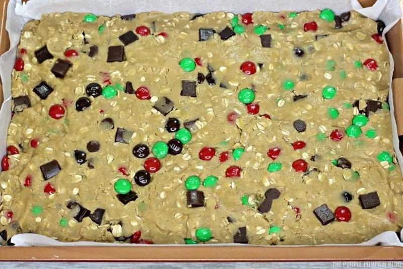reindeer cookie bar dough