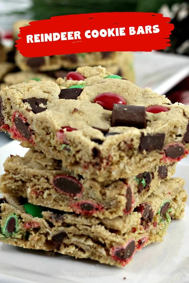 a close up stack of cookie bars