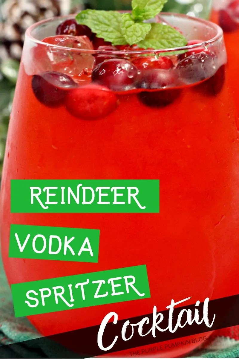 Reindeer Vodka Spritzer Cocktail
