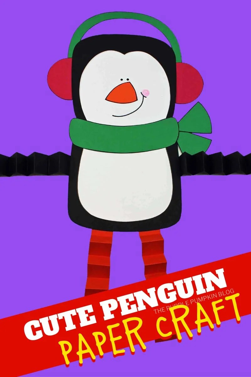 Cute penguin paper craft