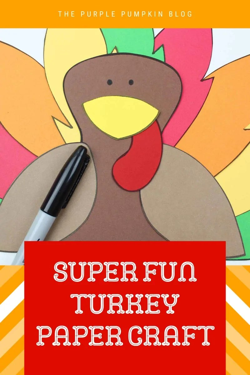 Super Fun Turkey Paper Craft