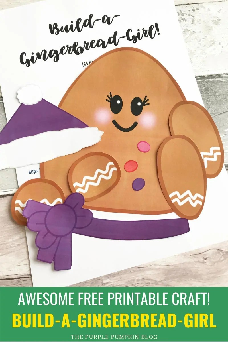 Awesome Free Printable Craft Build a Gingerbread Girl