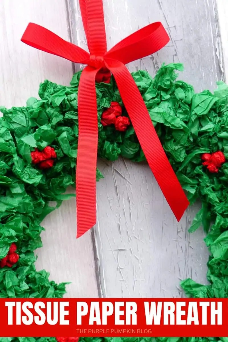 how to make a wreath out of tissue paper