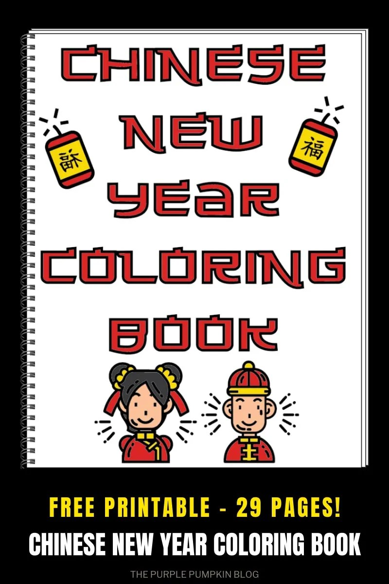 Free Printable - 29 Pages - Coloring Book for Chinese New Year