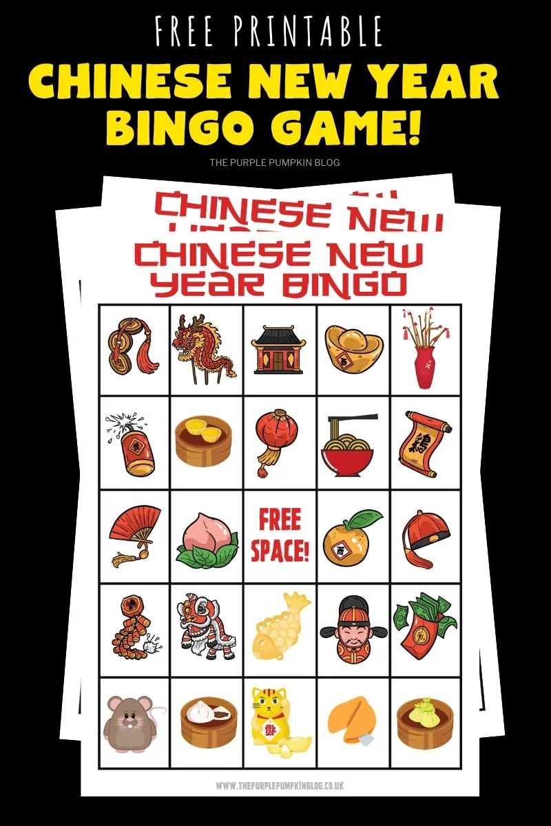Free Printable Bingo for Chinese New Year