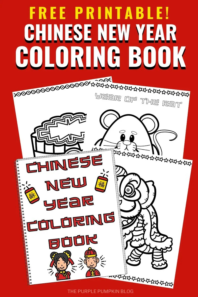 Chinese New Year Coloring Book Free Printable Coloring Pages