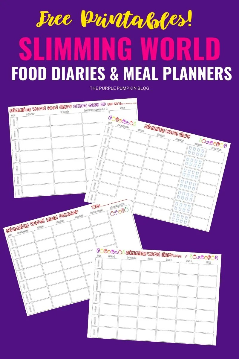 Free Printable Slimming World Food Diaries & Meal Planners
