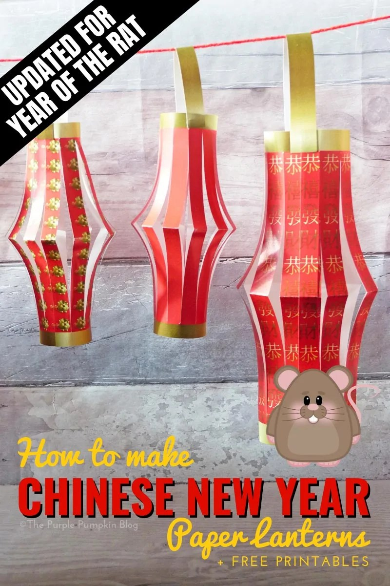 How to make Chinese New Year Paper Lanterns (with free printable)