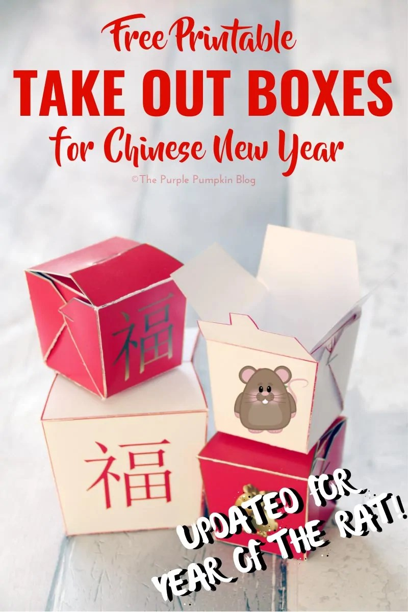 Free Printable Take Out Boxes for Chinese New Year
