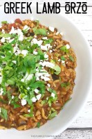 Greek Orzo with Lamb