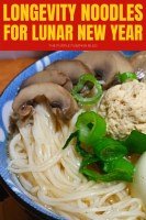 Longevity Noodles for Lunar New Year