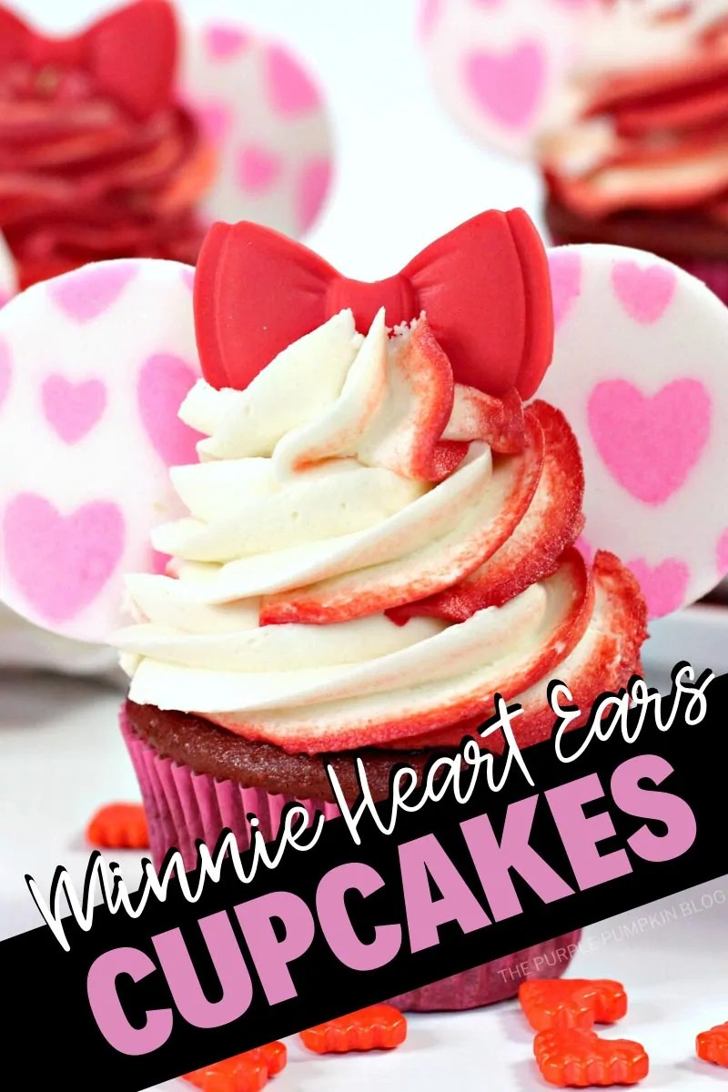Minnie Heart Ears Cupcakes