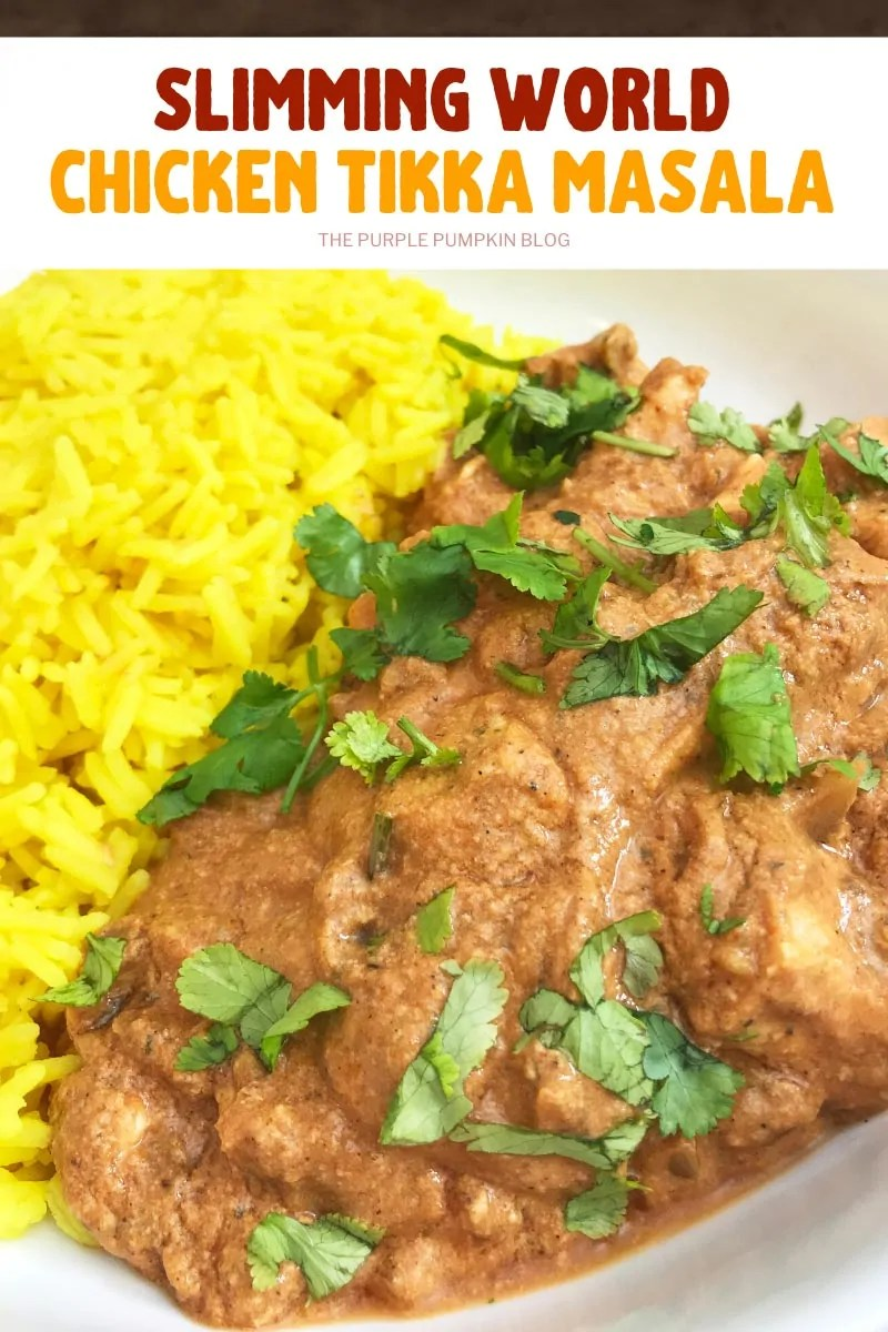 Slimming World Chicken Curry - Chicken Tikka Masala with turmeric rice