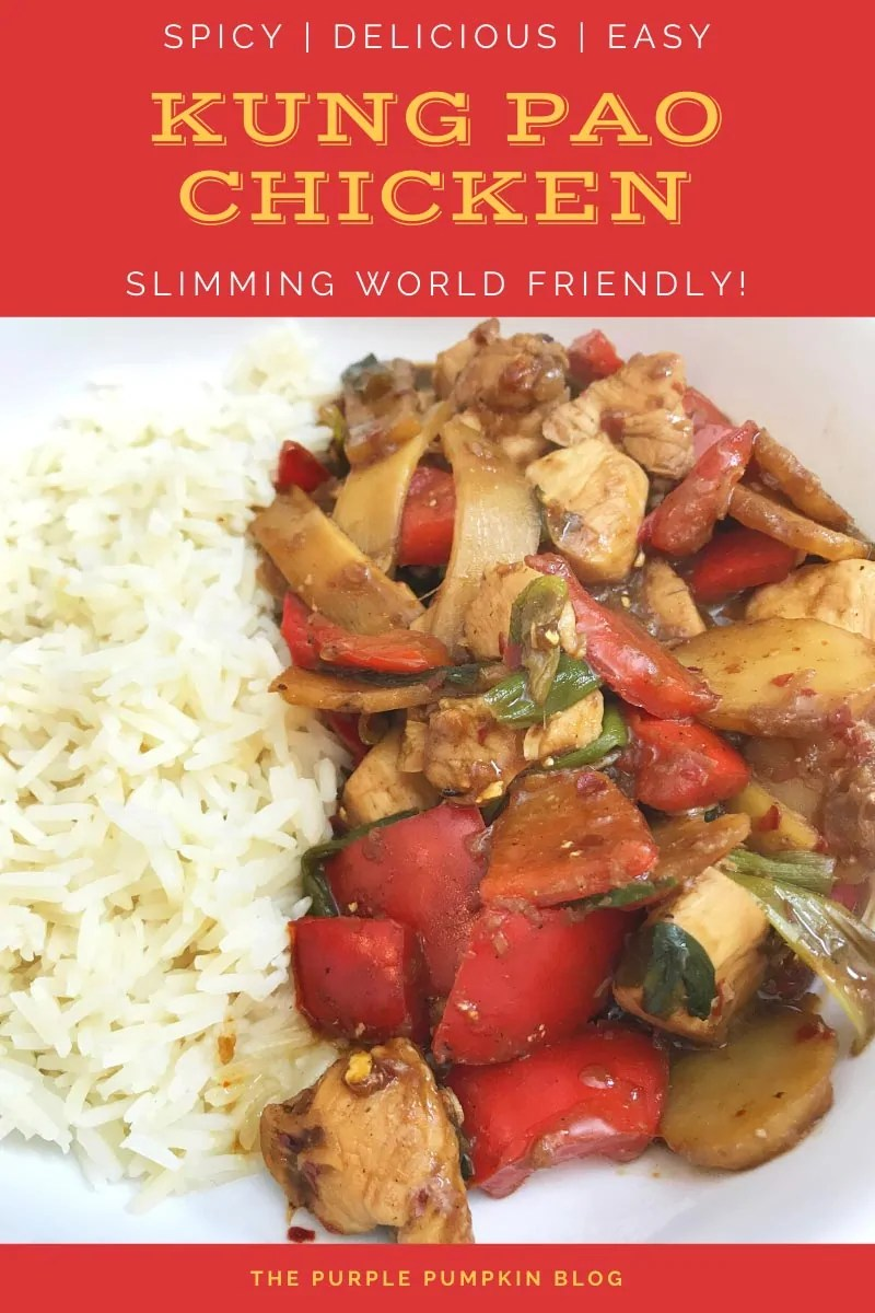 Spicy, Delicious, Easy Kung Pao Chicken - Slimming World Friendly. A bowl of this spicy chicken stir-fry with rice.