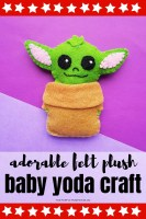 Adorable Felt Plush - Baby Yoda Craft!
