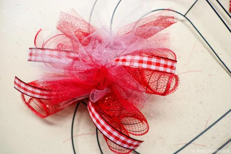 Deco Mesh Tied To Wreath (front)