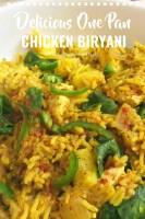 Delicious One Pan Chicken Biryani
