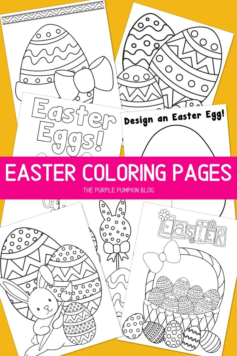 Easter Eggs Coloring Pages To Print For Free