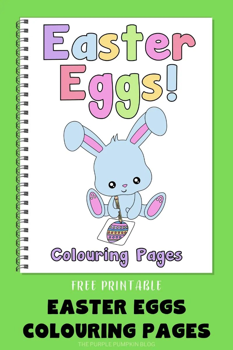 Free Printable Easter Eggs Colouring Pages