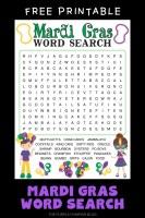 Free Printable Mardi Gras Word Search