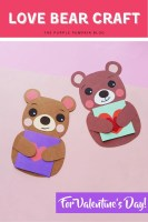 Love Bear Craft for Valentine's Day