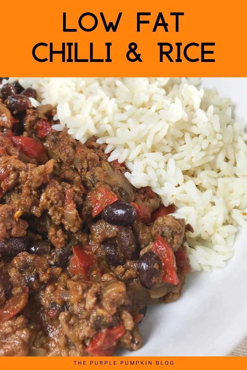 Low Fat Chilli & Rice