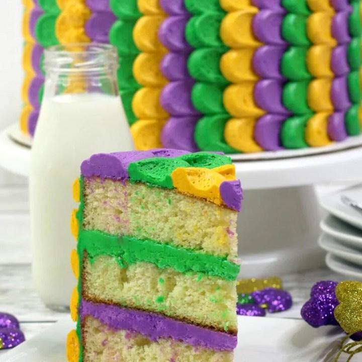 Mardi Gras Layer Cake