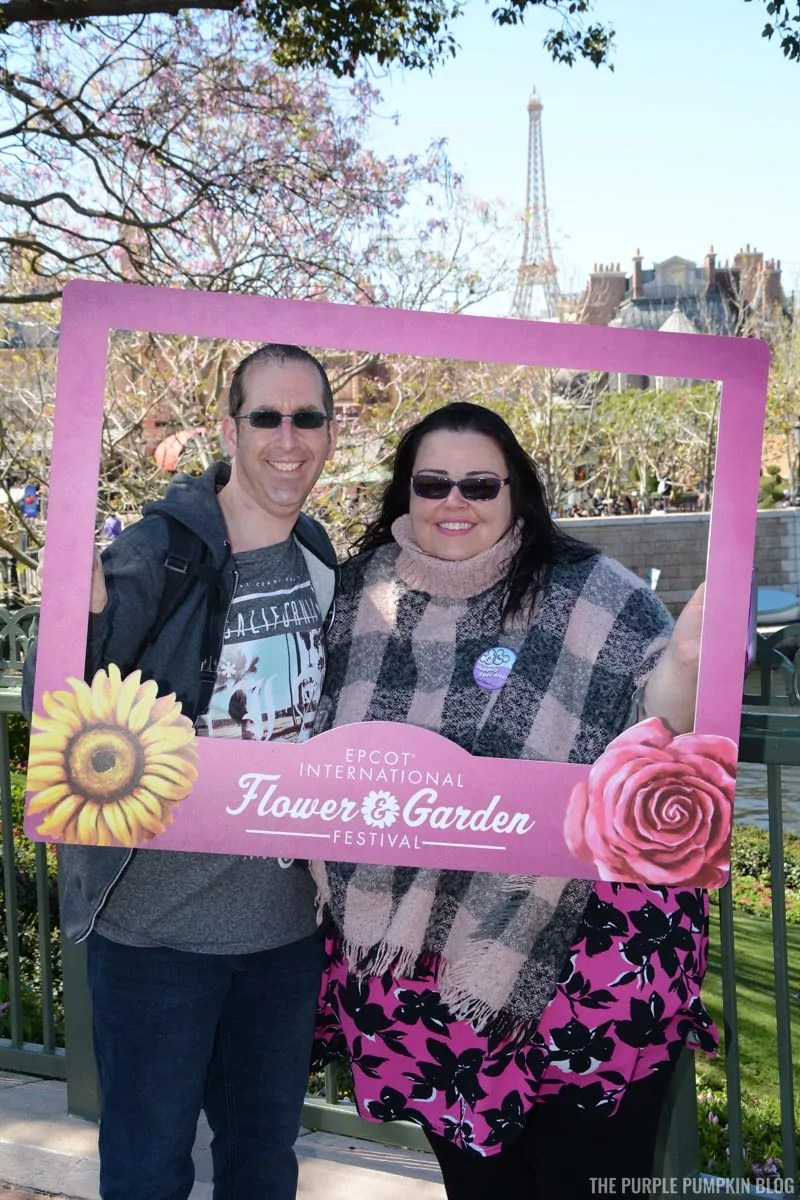 Us at Epcot Flower & Garden Festival