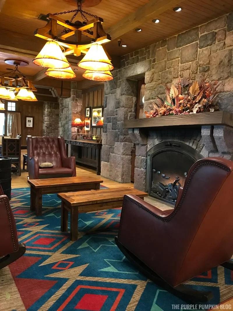 Boulder Ridge Lobby Fireplace