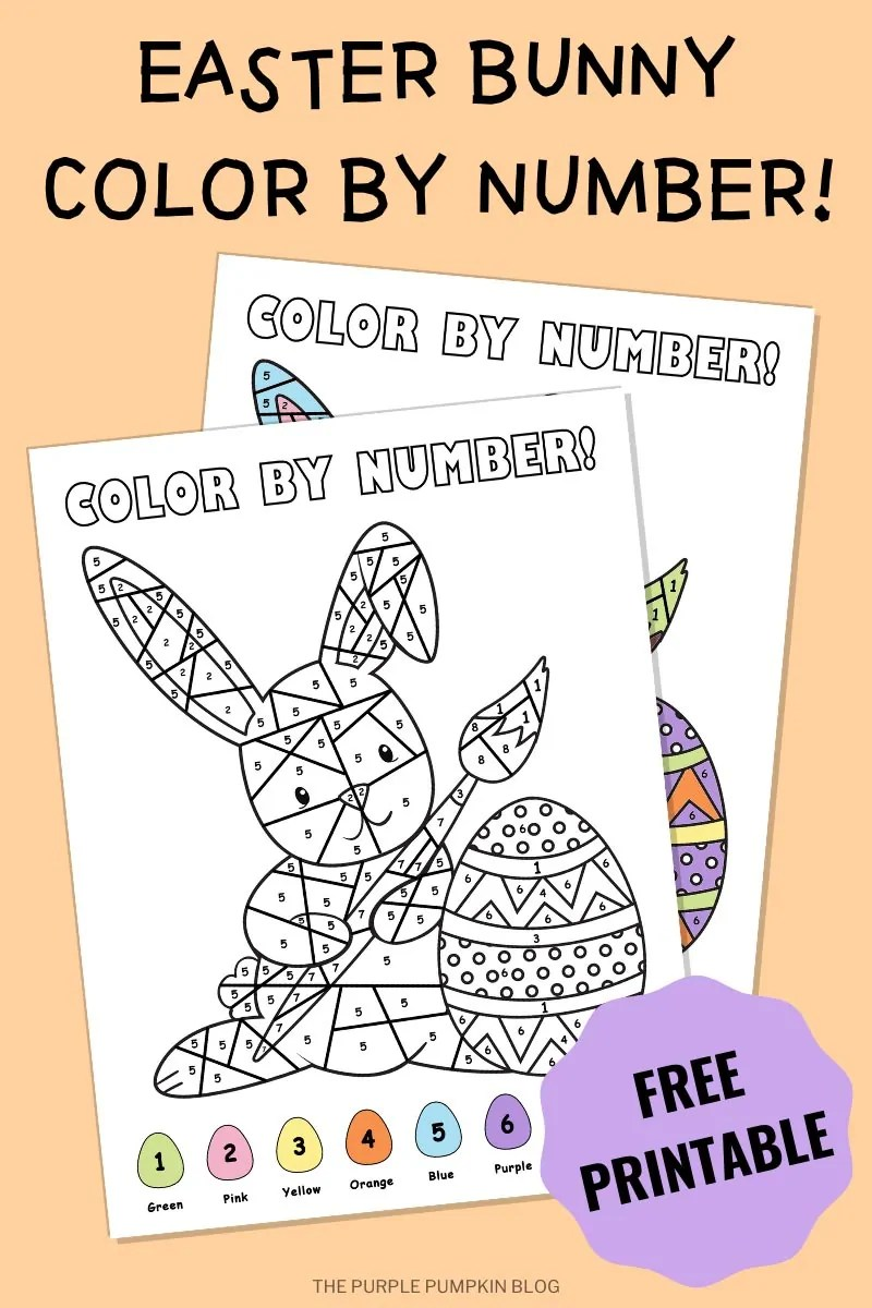 Easter Bunny Color By Numbers