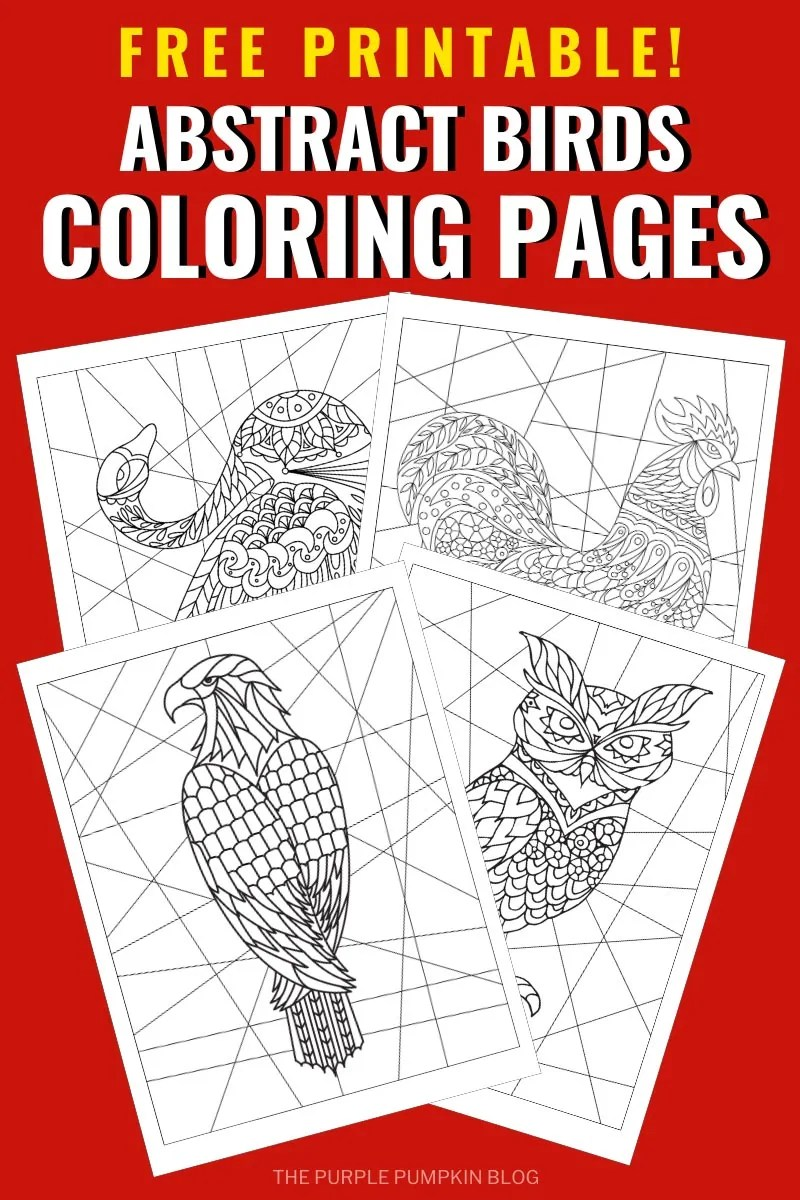 Free Printable Abstract Birds Coloring Pages