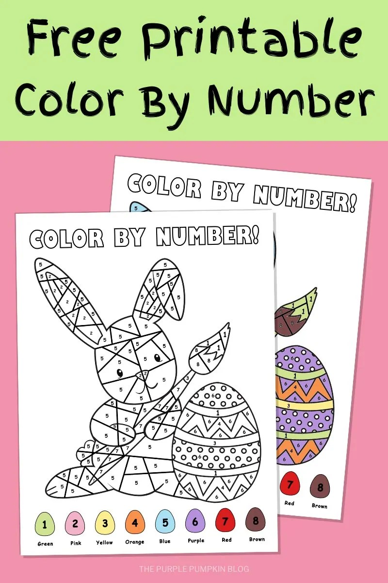 Free Printable Color By Number for Easter