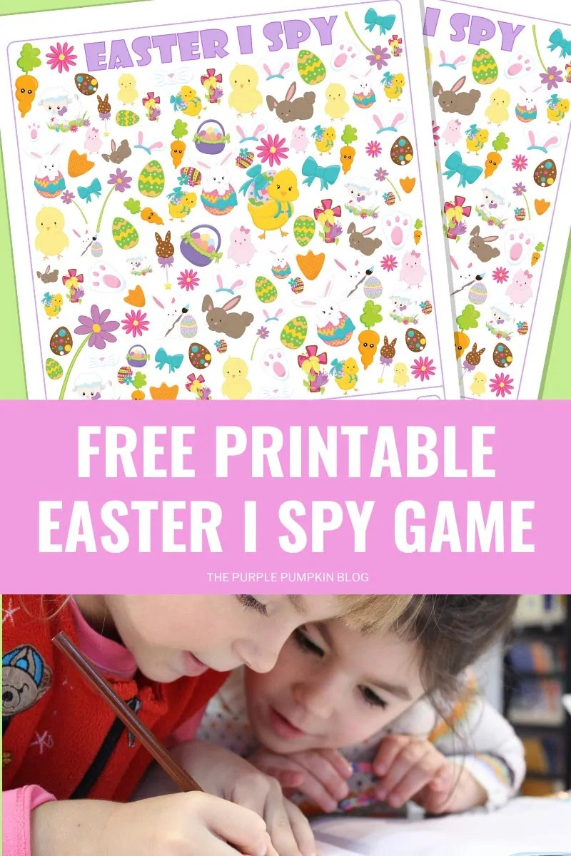 Free Printable Easter I Spy Game