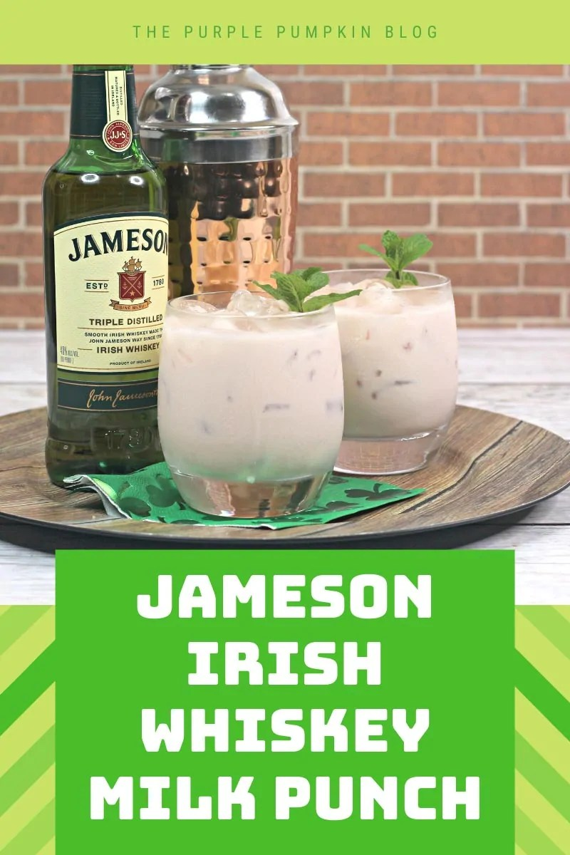 Jameson Irish Whiskey Milk Punch