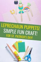 Leprechaun Puppets - Simple Fun Craft For St. Patrick's Day