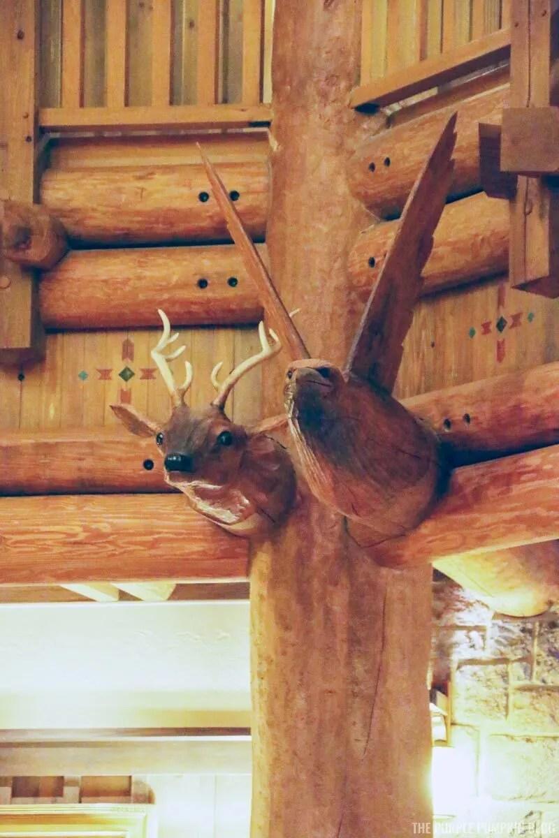 Wood Carvings - Deer & Eagle