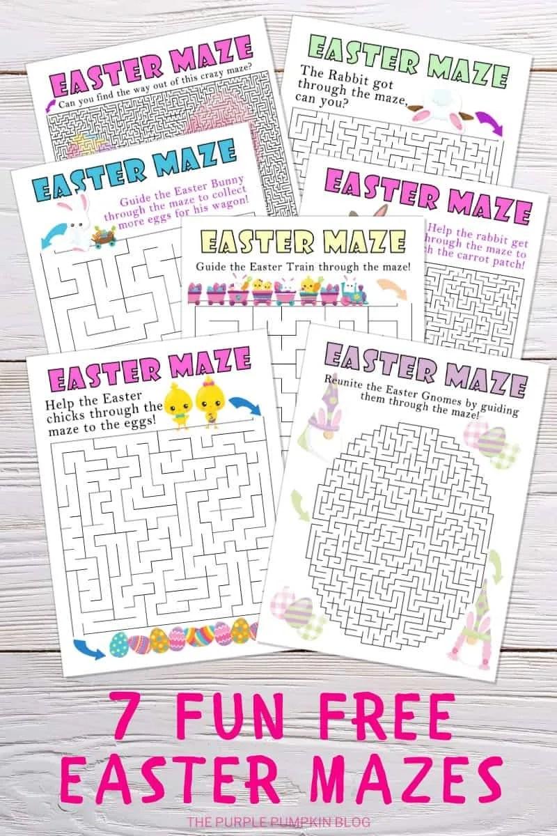 7 Fun Free Printable Easter Mazes