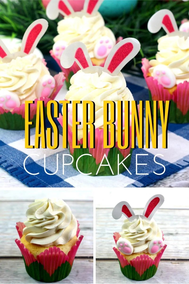 Easter Bunny Cupcakes to Celebrate Easter