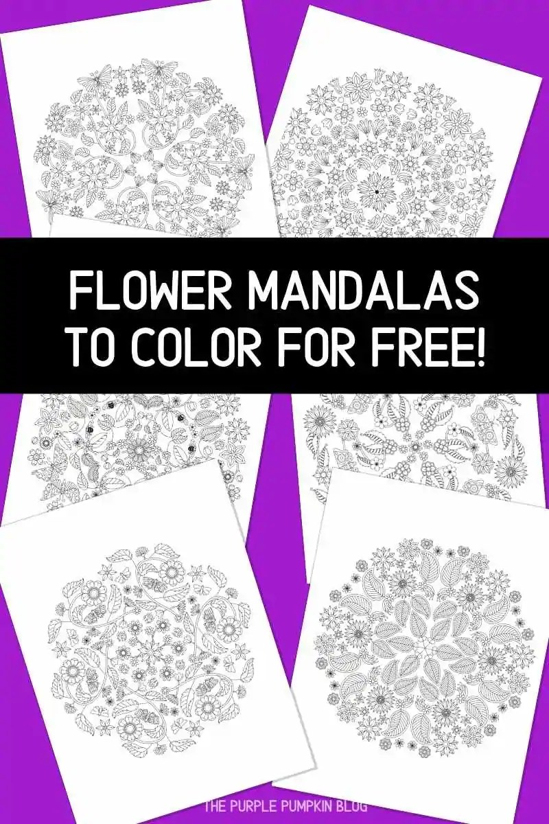 Flower Mandalas to Color for Free