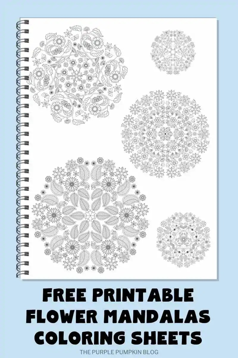 Free Printable Flower Mandalas Coloring Sheets