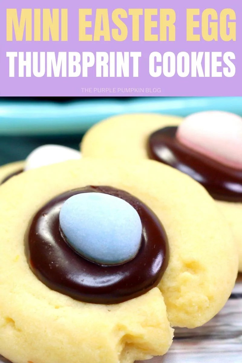 Mini Easter Egg Thumbprint Cookies