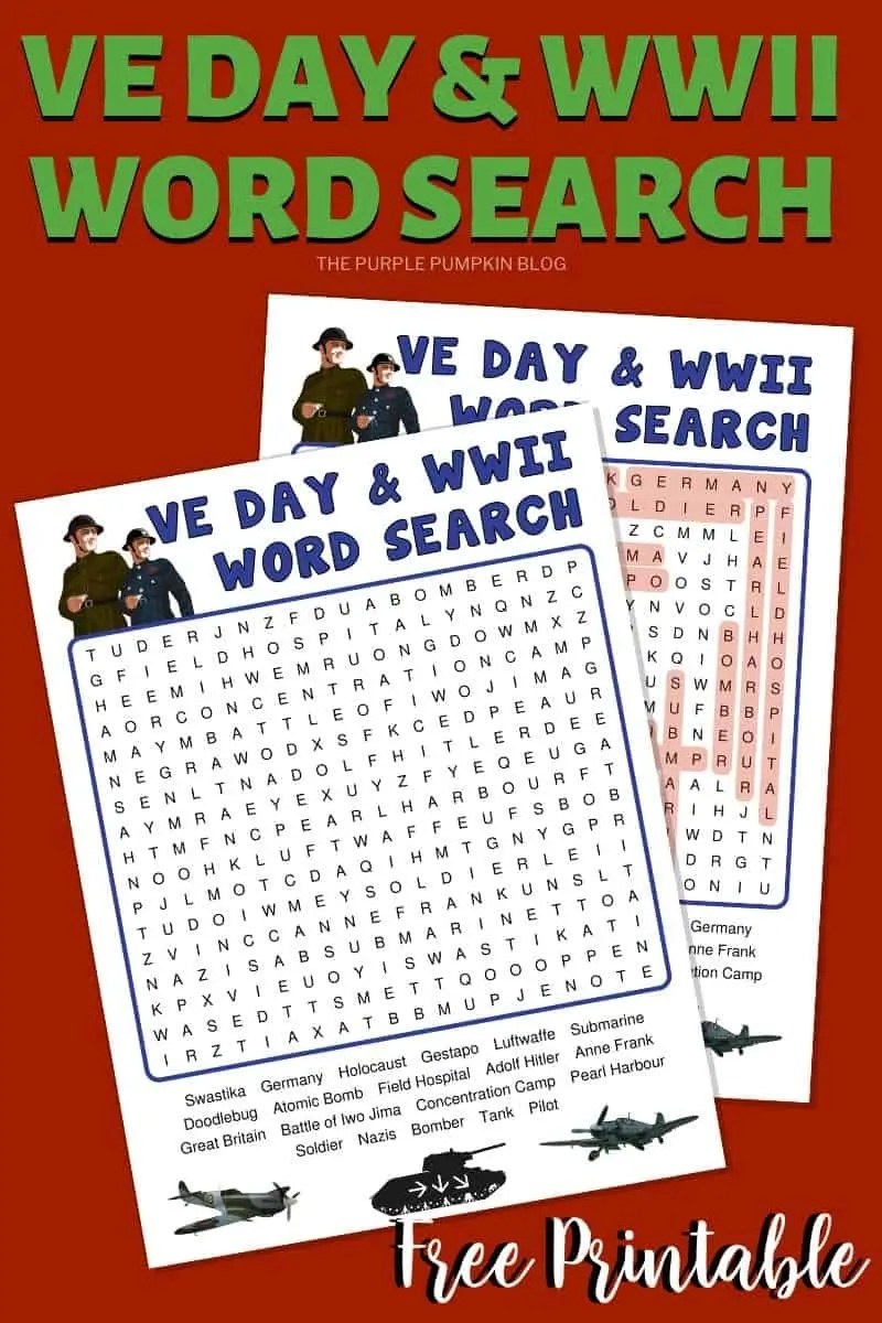 WWI & VE Day Word Search
