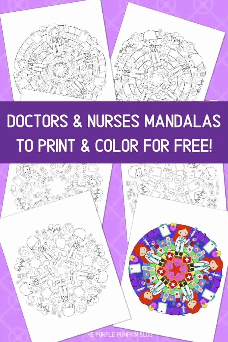 Doctors & Nurses Mandalas To Print & Color For Free!