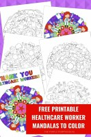Free Printable Healthcare Worker Mandalas To Color