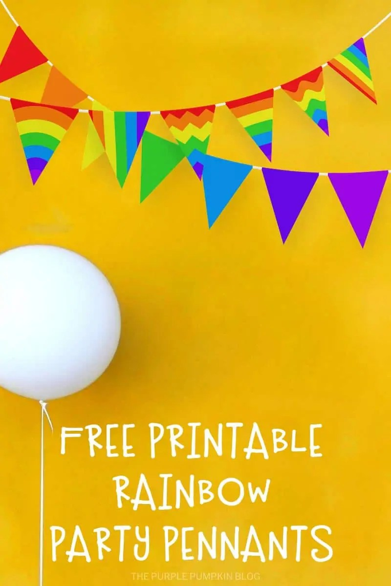 Free Printable Rainbow Party Pennants