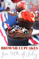 Brownie Cupcakes for the 4th of July