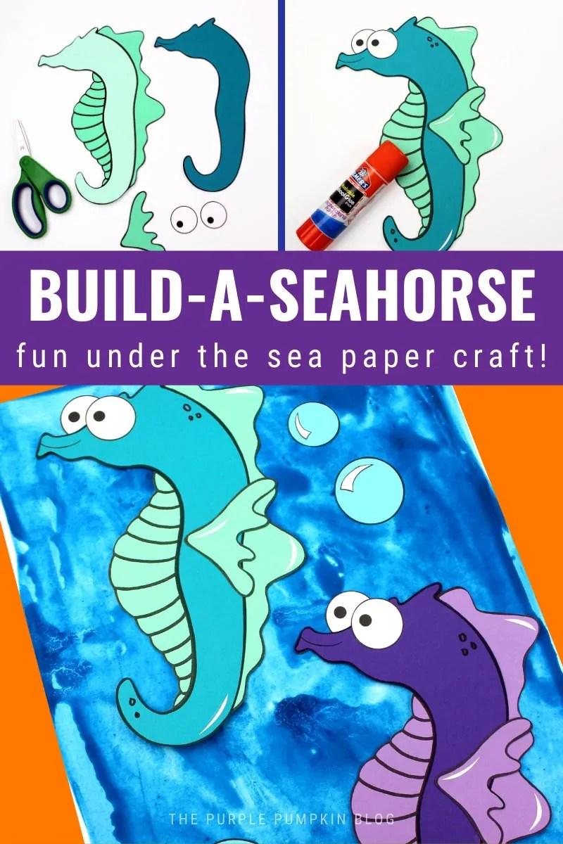 Build-A-Seahorse - Fun Under the Sea Paper Craft!