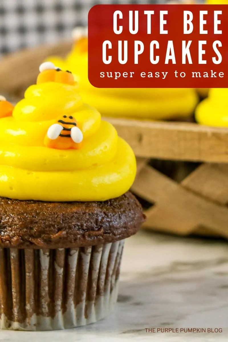 Cute Bee Cupcakes - Super Easy To Make!