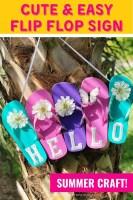 Cute & Easy Flip Flop Sign Summer Craft